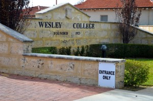 Wesley's Angelo Street car park entrance